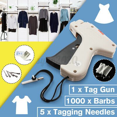 Clothes Regular Garment Price Label Tagging Tag Gun 1000 Barbs 5 Needles Us