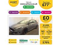 FORD FOCUS STEALTH GREY 2.0 TDCI 185 ST-3 HATCHBACK FROM £77 PER WEEK!