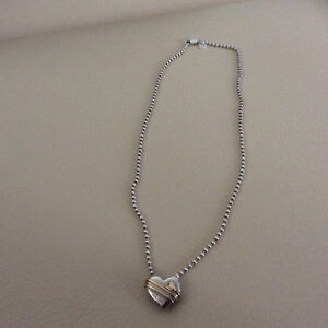 Tiffany & co sterling silver 18ct 18k Gold heart & arrow Necklac