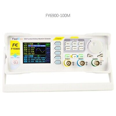 Fy6900 100mhz Function Arbitrary Waveform Signal Generator Dds 2-channel Tps