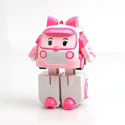 Amba Ambulance ROBOCAR POLI Deformation Cars Toy Police Robot Christmas Gift