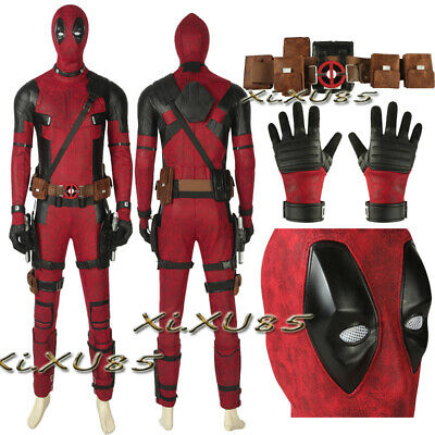 Movie Deadpool Cosplay Costume  X-Man Superhero Suit Halloween Customize Outfit