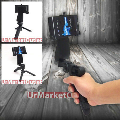 Black Universal Portable Handheld Tripod & Phone Adapter Fit Sony Xperia S LT26i for sale  Shipping to India