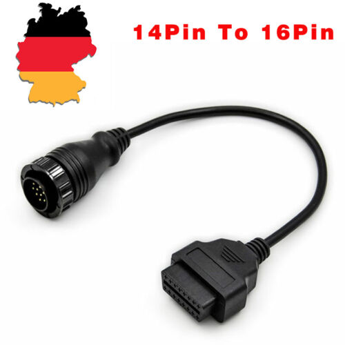 14pin to 16pin OBD2 Car Diagnostic Connector Adapter Cable For BENZ Sprinter