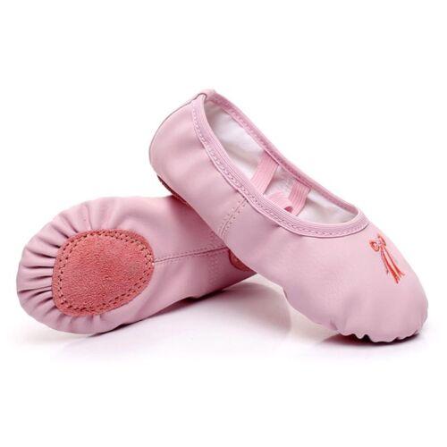 Kids Infant Girls Yoga Ballet Dance Shoes Canvas Leather Sol