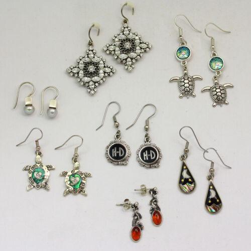 1 Lot - Mixed Metal & Stone Various Size Drop / Dangle Earrings
