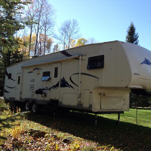 34 Foot Double Slide Rear Toy Hauler Fifth Wheel