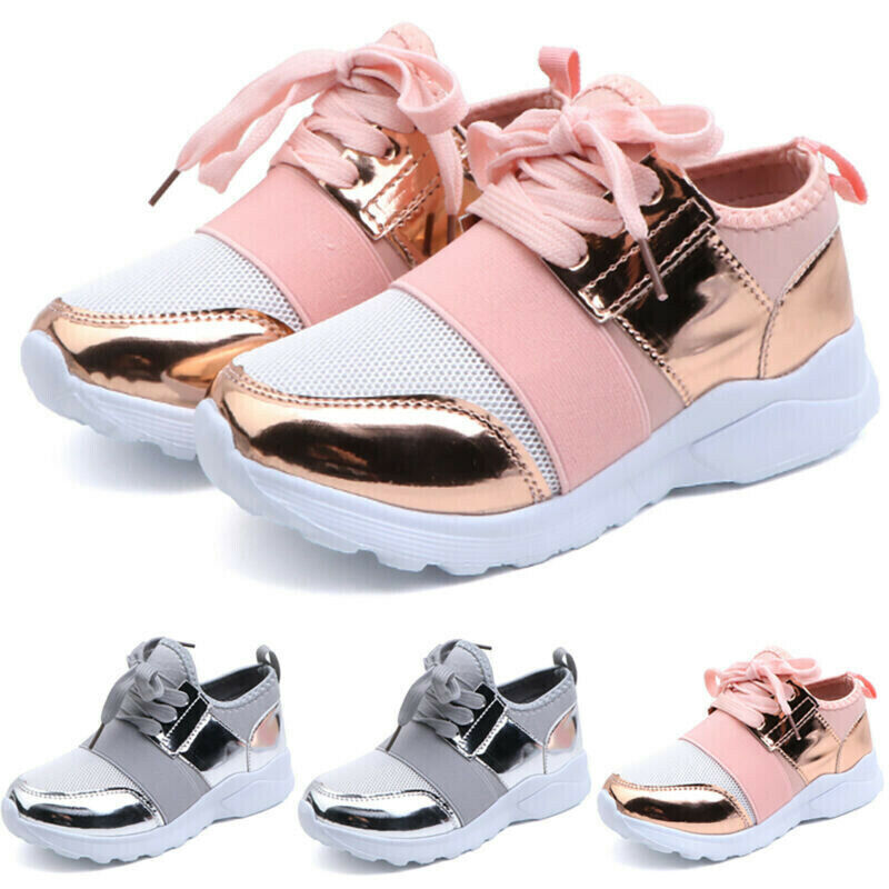 Kids Boys Girls Mesh Trainers Sneakers Comfort School Sport