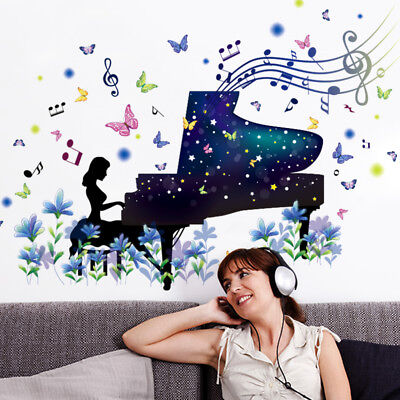 Piano Player Wall Stickers PVC Material DIY For Kids Room Kindergarten Dancing for sale  Shipping to India