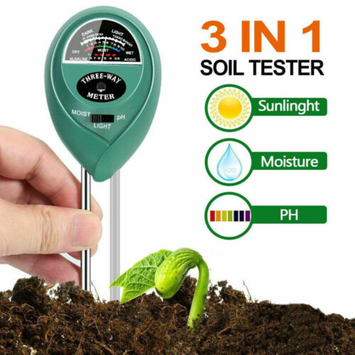 3in1 Digital Soil Tester Moisture Light PH Meter Test Detect