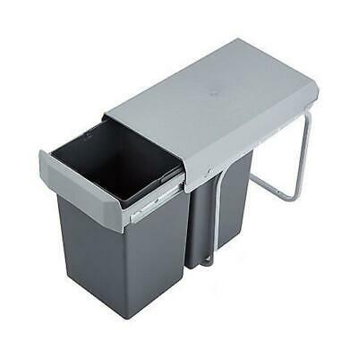 WESCO Double Boy 30DT 2x15 Liter silber/anthrazit Einbau Abfallsammler Mülleimer (Badezimmer Mülleimer Mit Deckel)