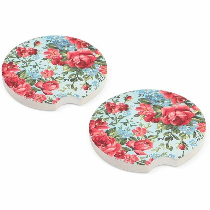 Car Coasters Set For Women Drinks Cups, Drink Coasters With Thick Cork Bottom