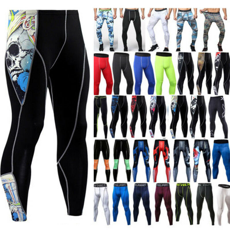 Men's Compression Under Long Pants Base Layer Training Sports Tights Fitness