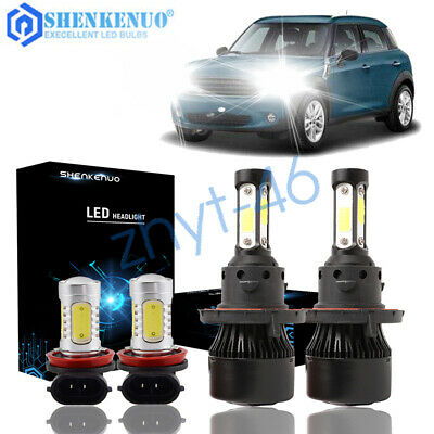 For Mini Cooper 2007-2018 Combo H13 LED Headlight H11 Fog Light Bulbs Kit 6000K