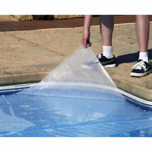 Toile solaire Piscine 12x24 Clear Pool Solar Cover 14-mil