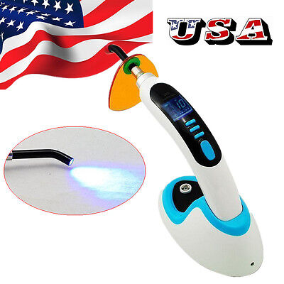USA FDA Best Dentist Cordless Wireless Dental Curing Light Lamp LED 2200mw