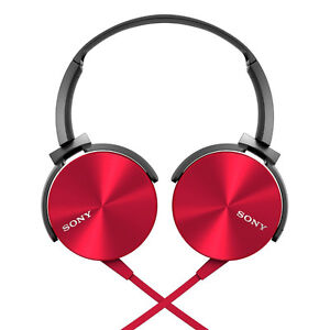 Sony MDR-XB450AP On-Ear Extra Bass(XB) Headphones with Mic (Red) Windsor Region Ontario image 1