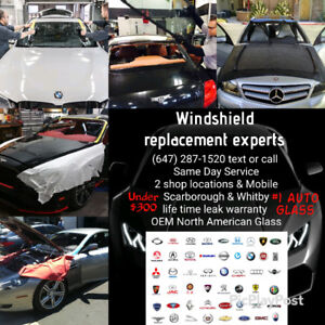 Windshield Replacement cracked auto glass OEM warranty 9am-7pm