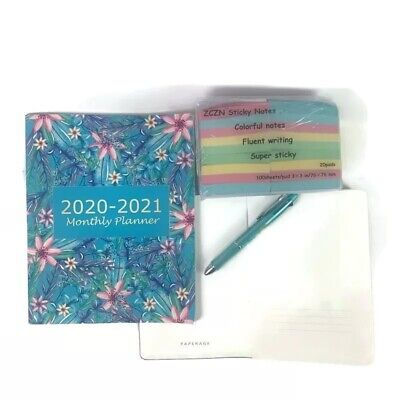 Lot Of Office Supplies Note Book 2020 Calendar Pen Sticky Notes