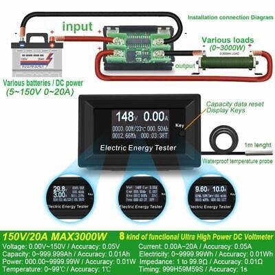 Dc Current Meters Digital Voltmeter Ammeter Voltage Amperimetro Wattmeter