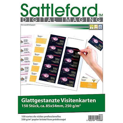 Sattleford 150 Business-Visitenkarten mit glatten Kanten 250g/m²