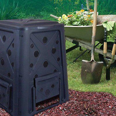 Redmon Green Culture 65-Gallon Compost Bin Weather-Resistant with 4-door Access