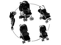 Brand new double pushchair stroller buggy