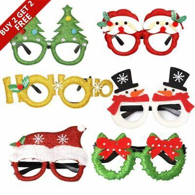 Christmas Xmas Clear Glasses Specs Novelty Sunglasses Fancy Dress Party Santa MA ()