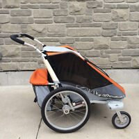 Chariot Cougar Double Stroller with Jogging + Bike Attachments
