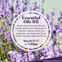 Essential Oils 101 Facebook Class Starting March 13