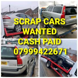 CASH PAID FOR SCRAP CARS