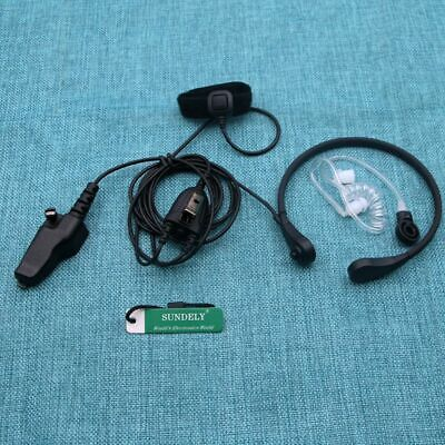Fbi Headset Earpiece Throat Ptt For Kenwood Radio Tk190 Tk280 K290 Tk380 Tk390