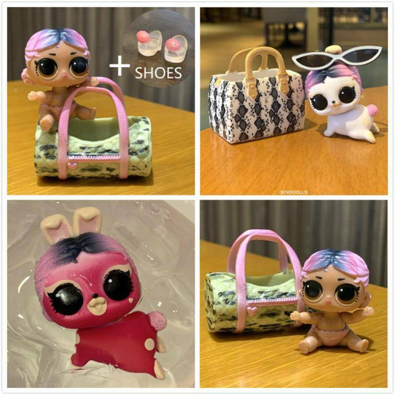 LOL Surprise Jet Set Hop Hop Bunny Rabbit Pet Q.T QT Cutie Lils ColorChanger