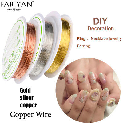(Nail Art Copper Wire Decoration Line DIY Design 3D Tip Metal Jewelry Manicure)