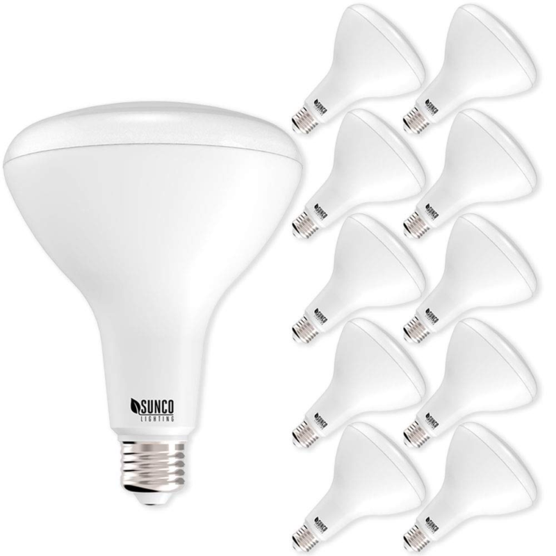 Buy Sunco Lighting 10 Pack Br40 Led Light Bulb 17 Watt 100