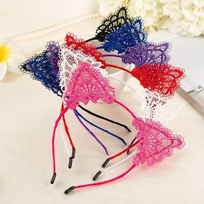 Sexy Gilrs Lace Cat Ears Headband Halloween Fancy Dress Party Bunny Band Costume - Lace Cat Ears Halloween