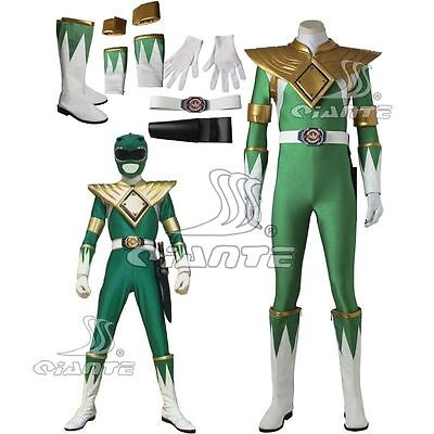 Green Jumpsuit Costume (ZYURANGER Green Ranger Dragon Cosplay Costume Jumpsuit with Armor and)
