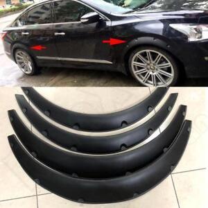 4 Piece Universal Car Tires Fender Flares Flexible Durable Polyurethane Body Kit