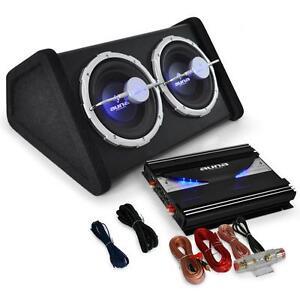 CAR AUDIO HIFI SYSTEM SUBWOOFER AMPLIFIER 2800W SET SUB AMP TWIN BASS SPEAKER