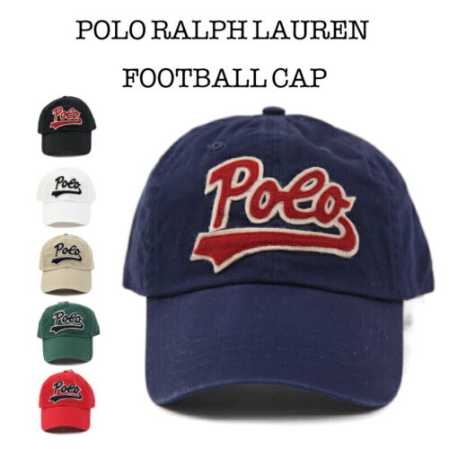 "Polo Ralph Lauren Football Hat Cap with cursive ""Polo""  - 5 colors -"