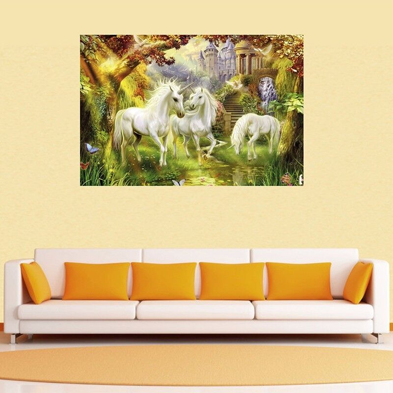 Unicorn stretched canvas print framed gift wall art home decor painting aud picclick au - Canvas prints home decor photos ...