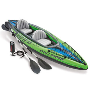 Intex Challenger K2 Kayak, 2-Person Inflatable Kayak Set with Al