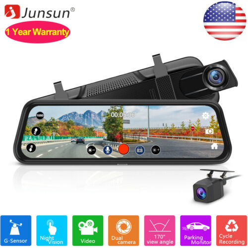 10 1080p car dvr rearview camera touch