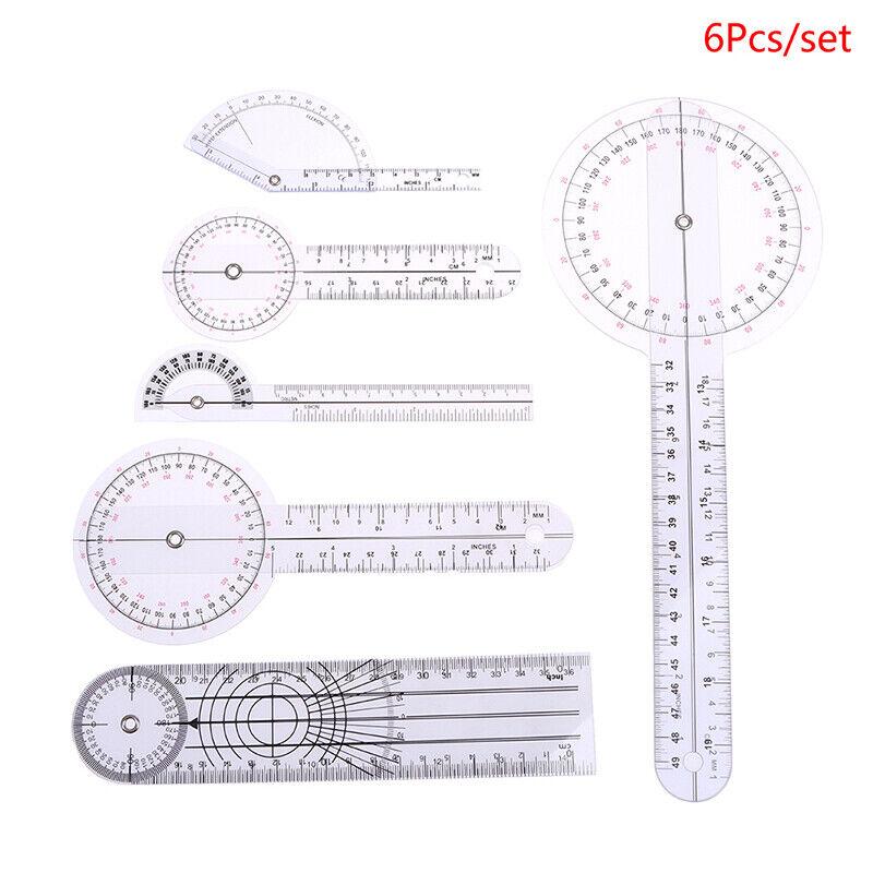 6Pcs/set Goniometer Joint Ruler Orthopedics Angle Rule Spinal Finger Angle Ru HB
