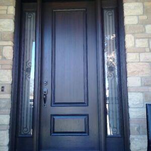 Entry steel and fiberglass door at 50% OFF