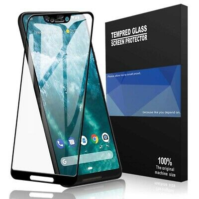 Google Pixel 3 3 XL 2 2 3D Best Tempered Glass 100% Full Cover Screen (Best Pixel Xl Glass Screen Protector)