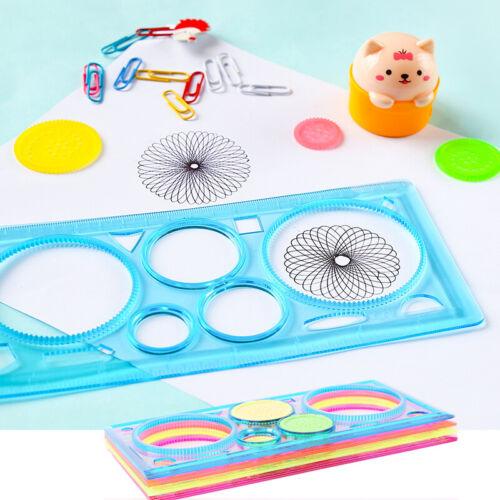 1Pc Spirograph Geometric Ruler Stencil Spiral Art Classic Toy Stationery Kit