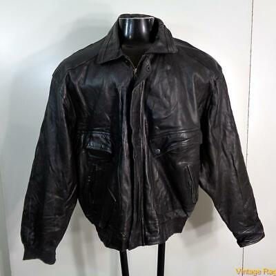 WEAR ME OUT Lambskin LEATHER JACKET Mens Size XL Black insulated zippered