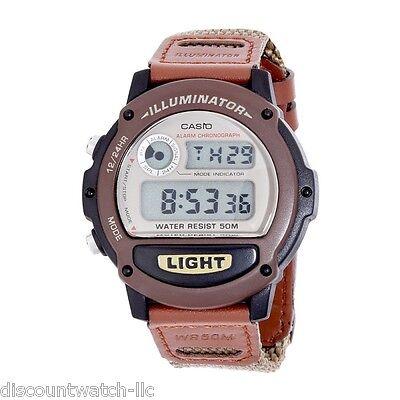 Casio W89hb 5A Mens Classic Casual Alarm Chrono Digital Dial Nylon Strap Watch