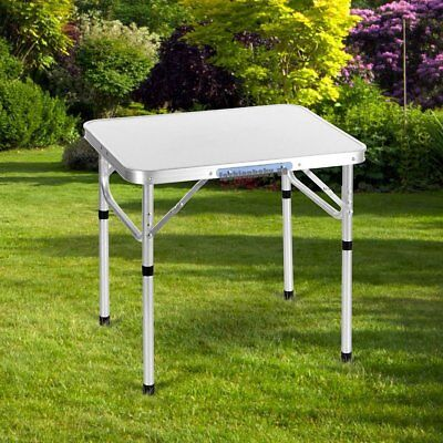 Trademark Innovations Aluminum Adjustable Portable Folding Camp Table with Carry